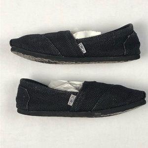 Toms slip on low black wmns 7.5